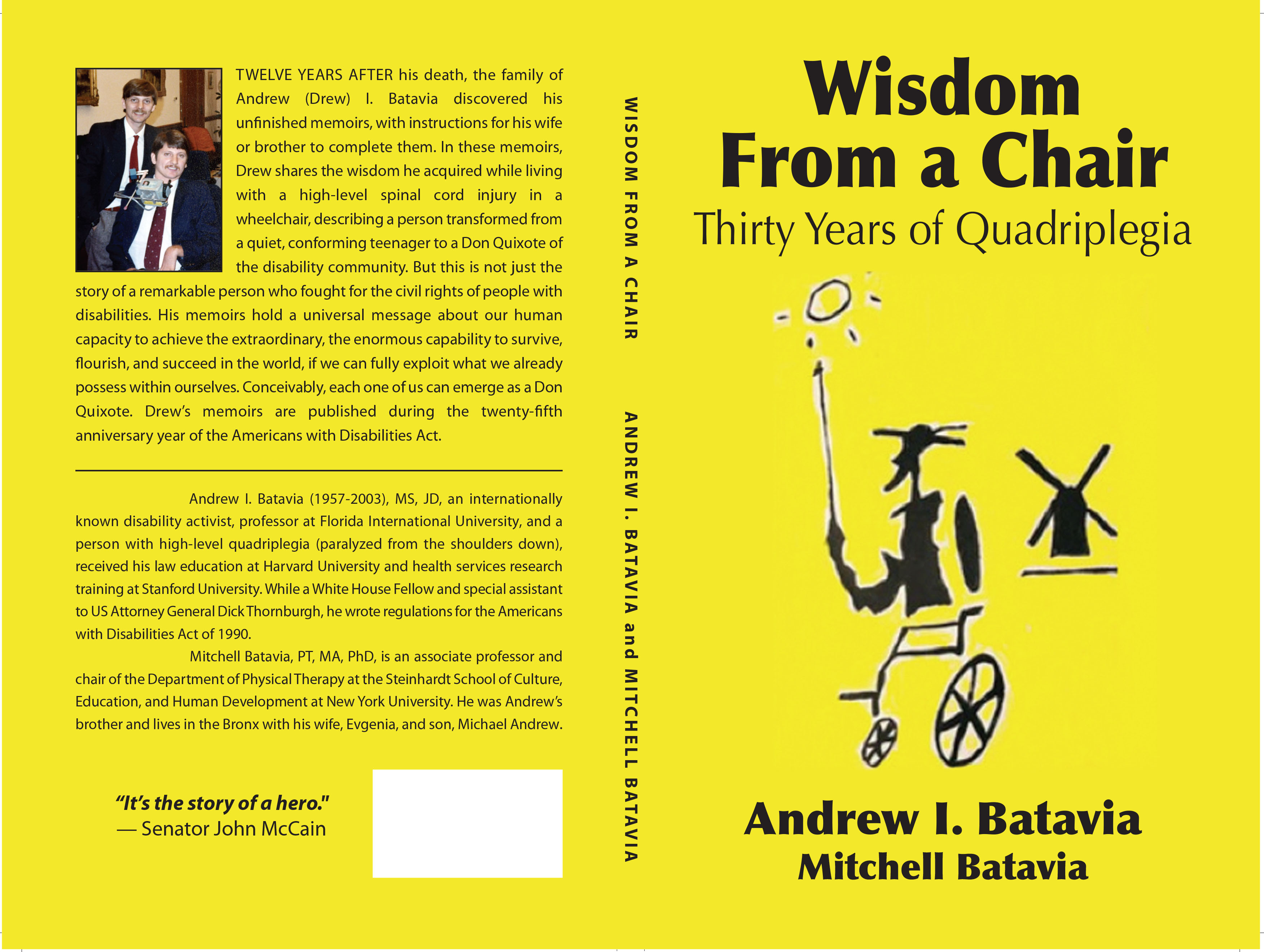 Wisdom from a Chair: Thirty Years of Quadriplegia - bookcover